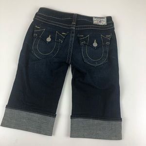 True Religion knee length Sophie jean short 26